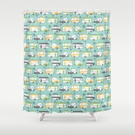 Happy Campers Shower Curtain