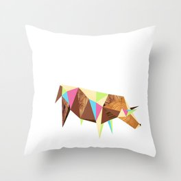 Bull/Market Throw Pillow