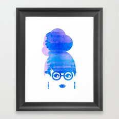 Curious Blue Framed Art Print