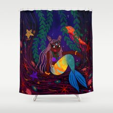 Tropical Mermadia Shower Curtain
