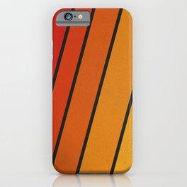 Retro 70s Stripes iPhone Case