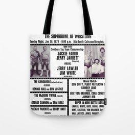 #8 Memphis Wrestling Window Card Tote Bag