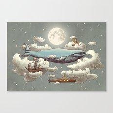 Ocean Meets Sky (original) Canvas Print