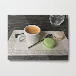 A Coffee Break in Paris Metal Print