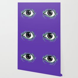 """I See You"" Purple Pattern Wallpaper"