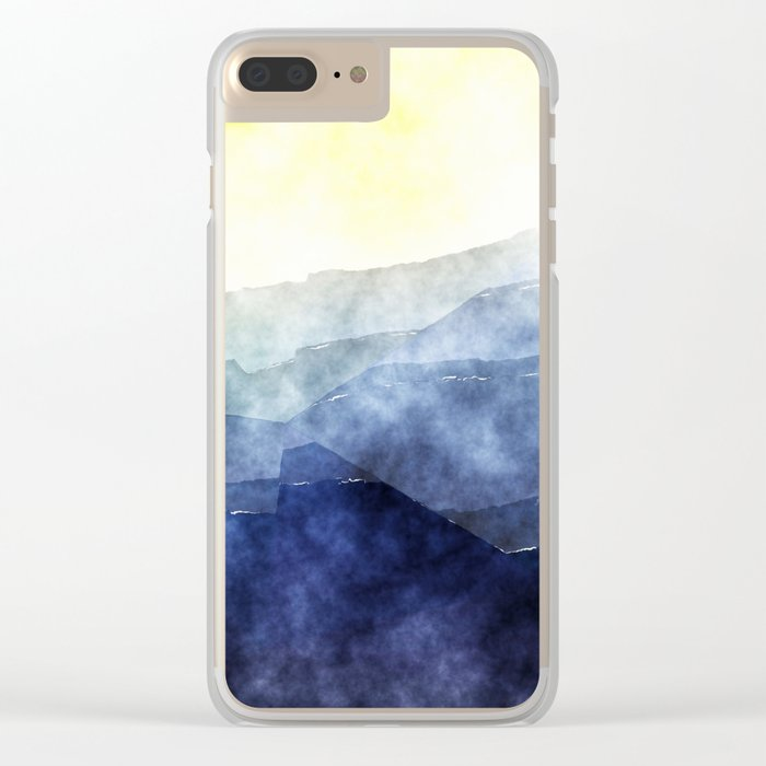 Sun behind the mountains - Modern abstract triangle Dreamscape Clear iPhone Case