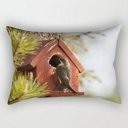 Brown Swallow Photography Print Rectangular Pillow