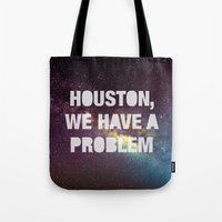 houston Tote Bags featuring Houston by Text Guy