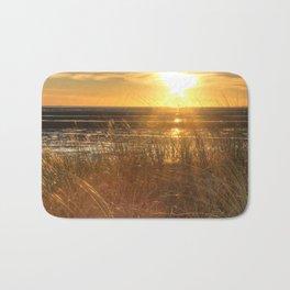 Beautiful Welsh Beach Sunset Bath Mat