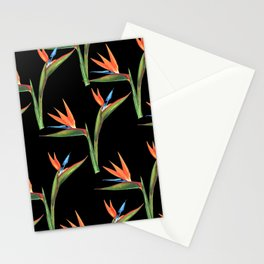 Bird of paradise flowers patten Stationery Cards