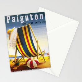 retro Paignton retro poster Stationery Cards