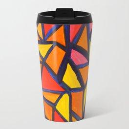 Striking Abstract Pattern Travel Mug