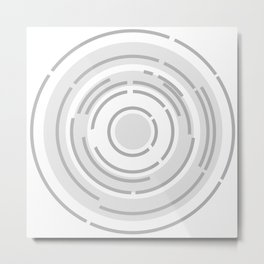 Circular Abstract Background Metal Print