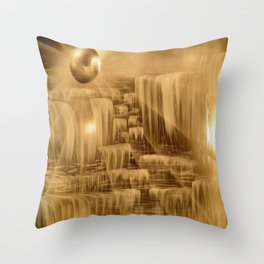 BethofArt* Black and Silver Falls  Throw Pillow