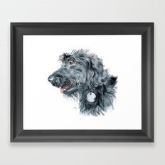 Black Labradoodle Framed Art Print