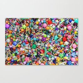 Rainbow Sprinkles - cupcake toppings galore Canvas Print