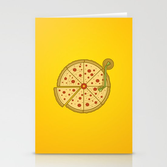 Pizza Vinyl Stationery Cards