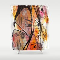 anime Shower Curtains featuring Anime 2 by Del Vecchio Art by Aureo Del Vecchio
