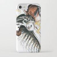 violin iPhone & iPod Cases featuring violin by NicolasGabrielArt