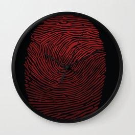 My fingerprint, my identity Wall Clock