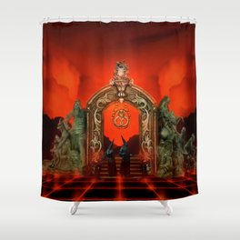 Hell Gate Shower Curtain