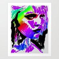 sky ferreira Art Prints featuring Sky Ferreira by Simon Falk