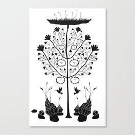Dark Plants, extended Canvas Print