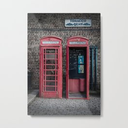 London Red Telephone Boxes Metal Print