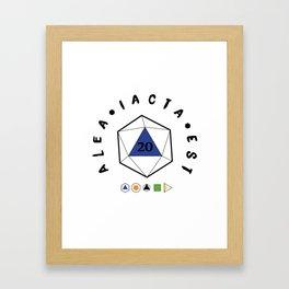 "Alea iacta est ""The die is cast"" Framed Art Print"