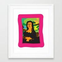 mona lisa Framed Art Prints featuring Mona Lisa by John Sailor