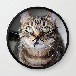 Poly Animals - Cat Wall Clock