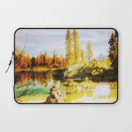 Color trees in autumn Laptop Sleeve