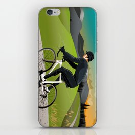 Road Cyclist iPhone Skin