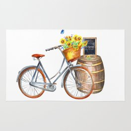Sunflower Bicycle Rug