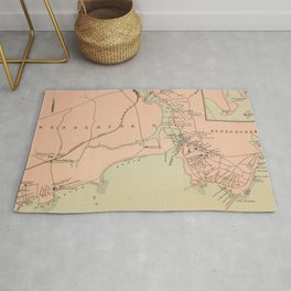 Vintage Kennebunkport & Cape Arundel ME Map (1894) Rug