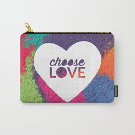 Choose Love Heart Quote Print Carry-All Pouch
