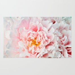 Peony Flower Photography, Pink Peony Floral Art Print Nursery Decor A happy life - Peonies 2 Rug