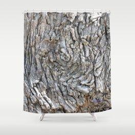 TEXTURES -- Blue Elderberry Bark Shower Curtain