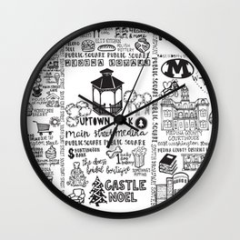 Downtown Medina Ohio Wall Clock