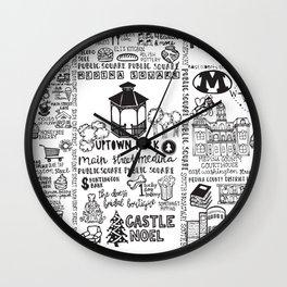 Downtown Medina Ohio Wall Clock