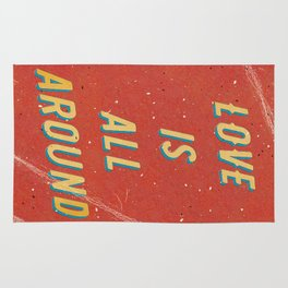 Love is all around - A Hell Songbook Edition Rug