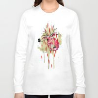 jackalope Long Sleeve T-shirts featuring Jackalope by Manfish Inc.
