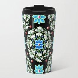 Folkloric Lily Medallion Travel Mug