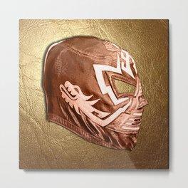 Bronze Luchador Metal Print