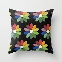 Flower pattern based on James Ward's Chromatic Circle (vintage wash) Throw Pillow