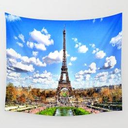 Paris Eiffel Tower Wall Tapestry