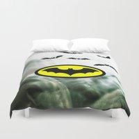 bat man Duvet Covers featuring Bat man  by haroulita