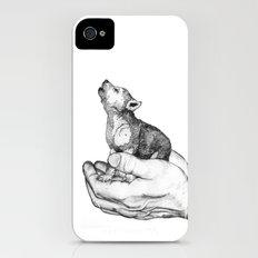 Wolf Cub // Graphite iPhone (4, 4s) Slim Case