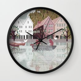 Norway 8 Wall Clock