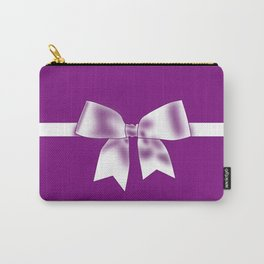 Purple Bow Carry-All Pouch